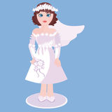 Cute bride. In a beautiful dress Royalty Free Stock Images