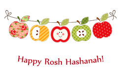 Cute bright apples garland as Rosh Hashanah Jewish New Year symbols. For your decoration Stock Photo