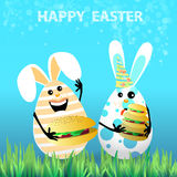 Cute bright easter illustration for your design Royalty Free Stock Photo
