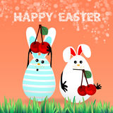 Cute bright easter illustration for your design Stock Image