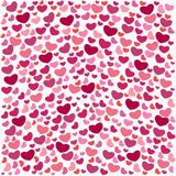 Cute bright templates Valentine`s Day. Endless pink backgrounds with hearts. For paper, textiles, cards, wedding stock illustration