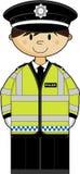 Cute British Policeman Stock Photos