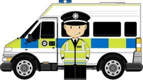 Cute British Policeman Stock Photo
