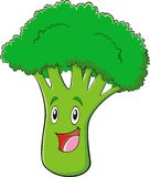 Cute Broccoli. A colorful cartoon illustration of a broccoli Royalty Free Stock Images