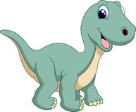 Cute brontosaurus cartoon Stock Photography