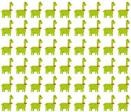 Cute brontosaurus seamless pattern on white background. Seamless pattern made by green male dinosaurs - brontosaurus & x28;thunder lizard& x29; on white Royalty Free Stock Photo