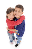 Cute brother and sister Stock Photos