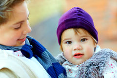 Cute brother and sister. Outdoor portrait of cute brother and sister Stock Photography