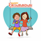 Cute brother and sister for Raksha Bandhan. Stock Images