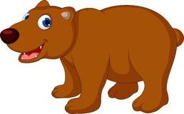 Cute brown bear cartoon Royalty Free Stock Photo