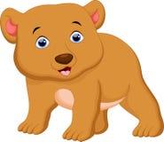 Cute brown bear cartoon Royalty Free Stock Images