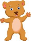 Cute brown bear cartoon Royalty Free Stock Photo