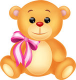 Cute brown bear stuff cartoon Royalty Free Stock Photography