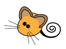 Cute Brown Cartoon Mouse Stock Image
