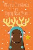 Cute brown deer Royalty Free Stock Images