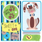 Cute and brown dog  illustration Royalty Free Stock Image