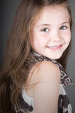 Cute Brown Haired Child Smiling Stock Photography