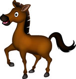 Cute brown horse cartoon Royalty Free Stock Photography