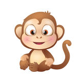 Cute Brown Monkey Smiling Stock Image