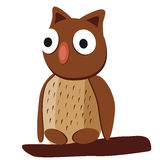 Cute brown owl with big eyes Royalty Free Stock Image