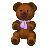 Cute brown teddy bear toy Stock Photos