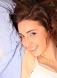 Cute brunet girl portrait Stock Photos