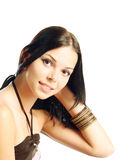 Cute brunette Royalty Free Stock Images