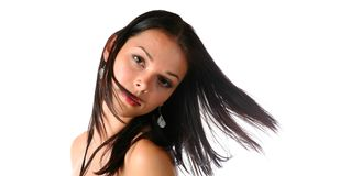 Cute brunette Royalty Free Stock Photos