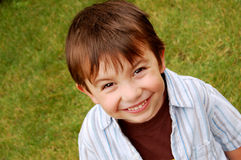 Cute Brunette Boy Stock Photo