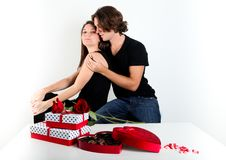 Cute Brunette Couple Royalty Free Stock Photos