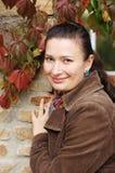 Cute brunette face Stock Photo