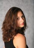 Cute brunette face Stock Image