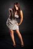 Cute brunette girl Stock Photos