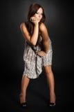 Cute brunette girl Stock Image