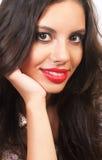 Cute brunette girl smiling Stock Photos