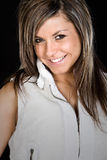 Cute Brunette Girl Smiling. Shot of a Cute Brunette Girl Smiling Stock Photography