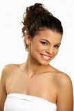 Cute brunette smiling Royalty Free Stock Images
