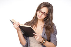 Cute brunette student girl. Stock Image