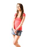 Cute brunette teen. Royalty Free Stock Photo