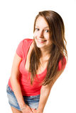 Cute brunette teen. Stock Photography