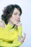 Cute brunette young woman portrait Royalty Free Stock Image