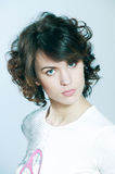 Cute brunette young woman portrait Royalty Free Stock Photo