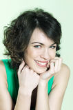 Cute brunette young woman portrait Royalty Free Stock Photos