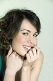 Cute brunette young woman portrait Stock Image