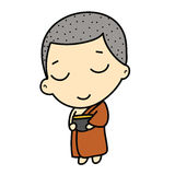 Cute Buddhist Monk Stock Photo