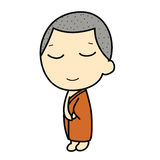 Cute Buddhist Monk Royalty Free Stock Photos