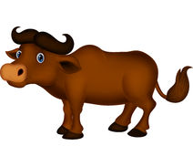 Cute buffalo cartoon Royalty Free Stock Image