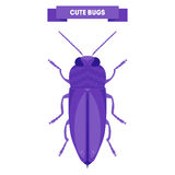 Cute bug isolated on white. Royalty Free Stock Photos