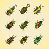 Cute bugs. Cartoon vector set Stock Image