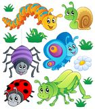 Cute bugs collection 1. Vector illustration Royalty Free Stock Image